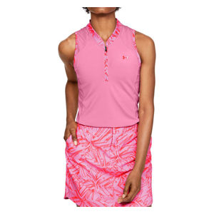 Dámske tričko s golierikom Under Armour Zinger Sleeveless Zip Polo vel. M