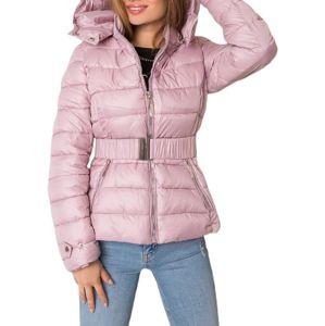 Svetlo ružová dámska prešívaná bunda vel. 2XL