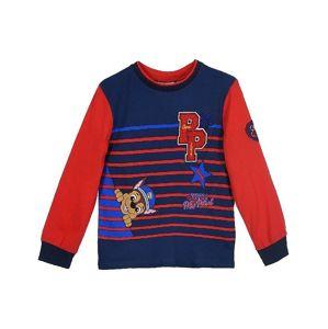 Tlapková patrola červeno / modré pruhované tričko vel. 104
