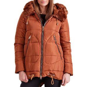 Dámska zimná hnedá bunda vel. 2XL