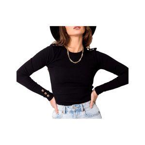 čierne dámske tričko s dlhým rukávom vel. L