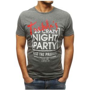 sivé tričko s nápisom vel. XL