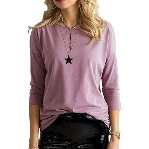 Tmavo-ružové dámske tričko vel. XS