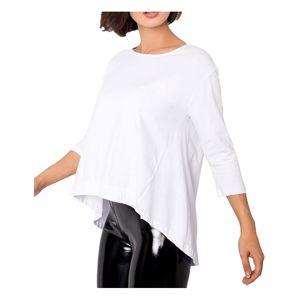 Dámske biele tričko s predĺženými chrbtom vel. XL