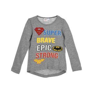 Super hero girls- sivé dievčenské tričko s dlhým rukávom vel. 104