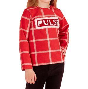 červené dievčenské tričko s pruhmi vel. 116