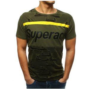 Zelené pánske tričko s potlačou vel. XL