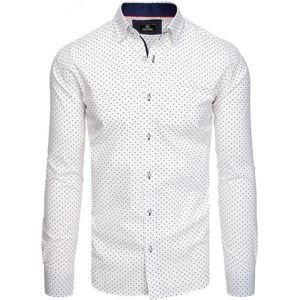 Biela košeĺa s dlhým rukávom vzor vel. L