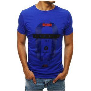 Modré pánske tričko s potlačou vel. XL