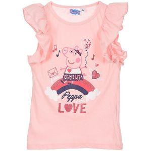 Prasiatko pepa - ružové dievčenské tričko vel. 116