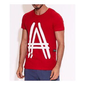 červené pánske tričko s potlačou a vel. XL