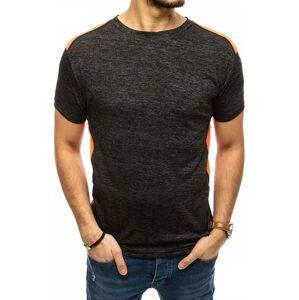 čierne pánske žíhané tričko vel. L