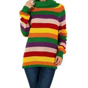 Dámsky módny pruhovaný pulóver Milas